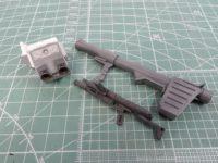 バックパック・武器類の製作(プラ板改造etc...)【HG ジム寒冷地仕様】